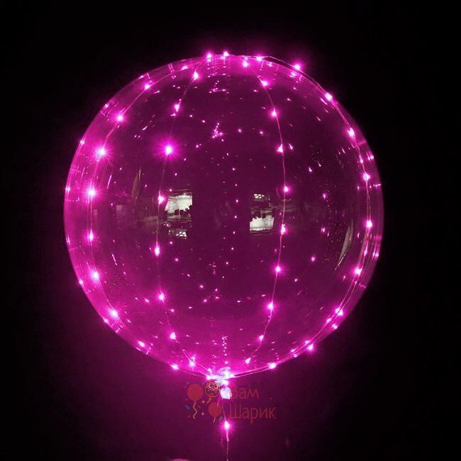 Светящийся кристальный шар Bubbles с розовой светодиодной лентой
