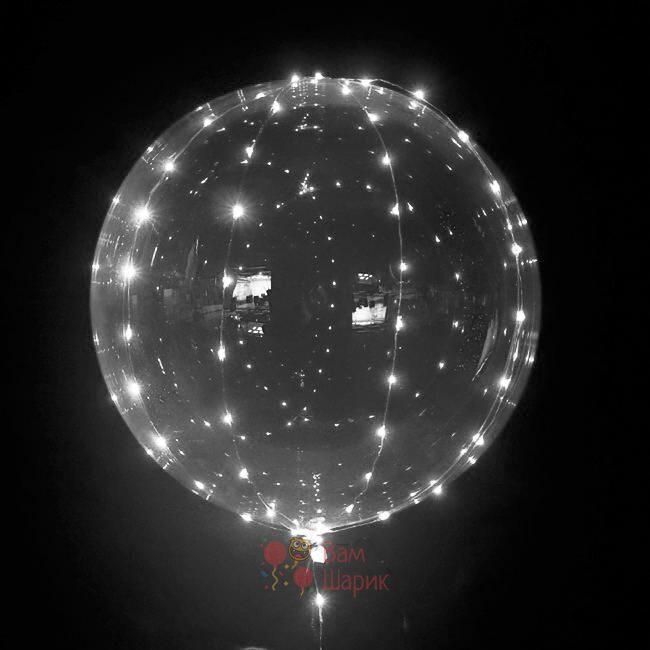 Светящийся кристальный шар Bubbles с белой светодиодной лентой