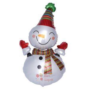 Фольгированная фигура снеговик большой
