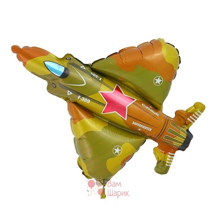 Фольгированная фигура самолет милитари