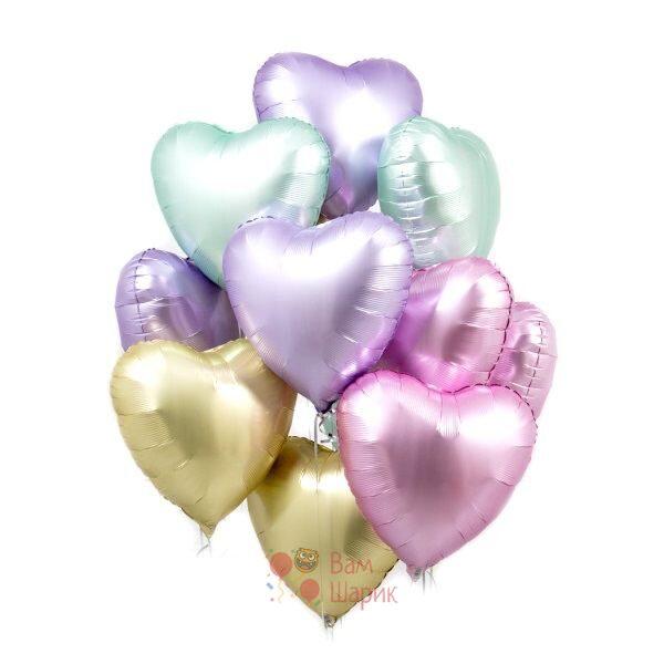 Облако разноцветных сердец