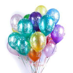 Воздушные шары на День Рождения металлик