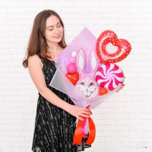 Мини-букет из шариков для любимого человека