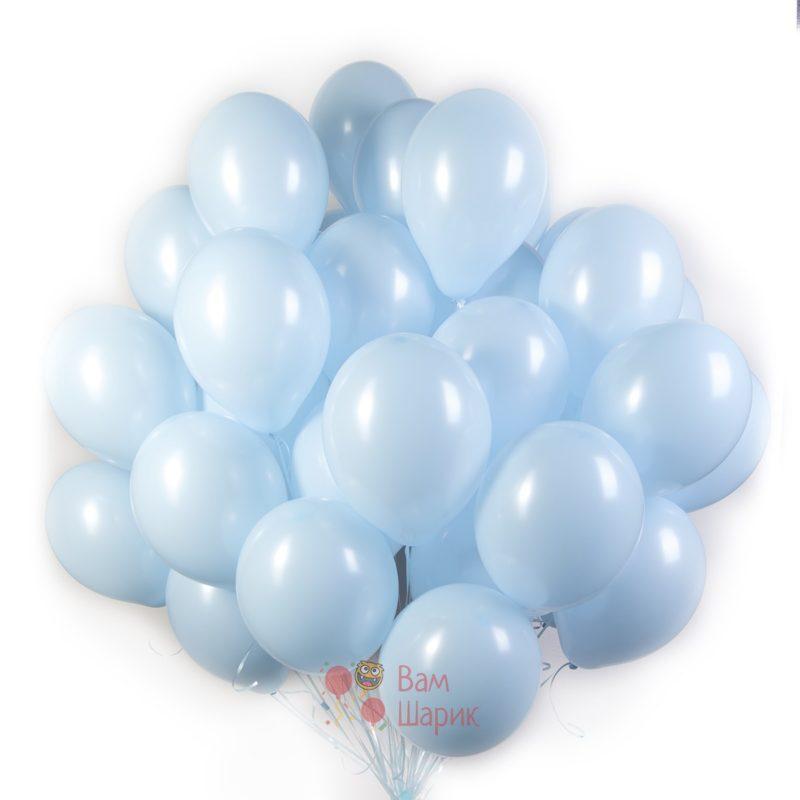 Облако голубых шаров