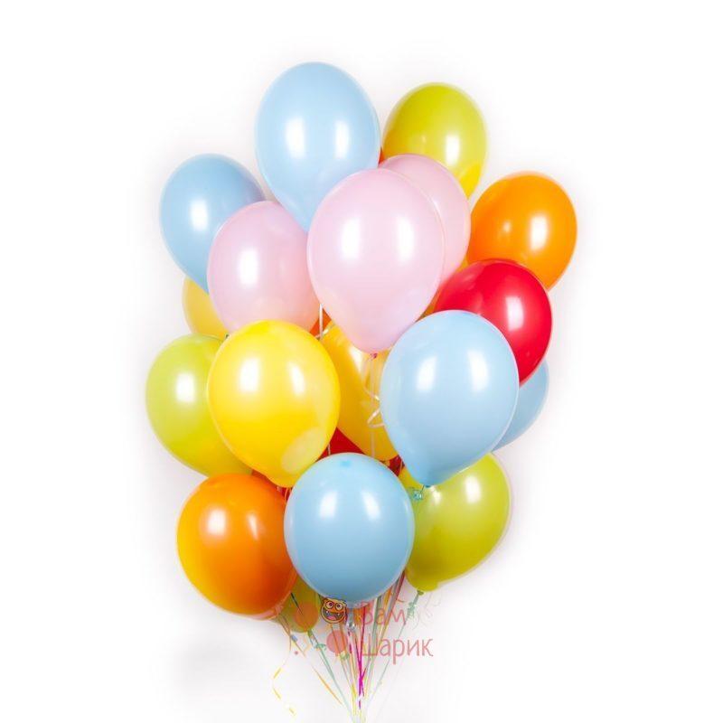 Воздушные разноцветные шары пастель