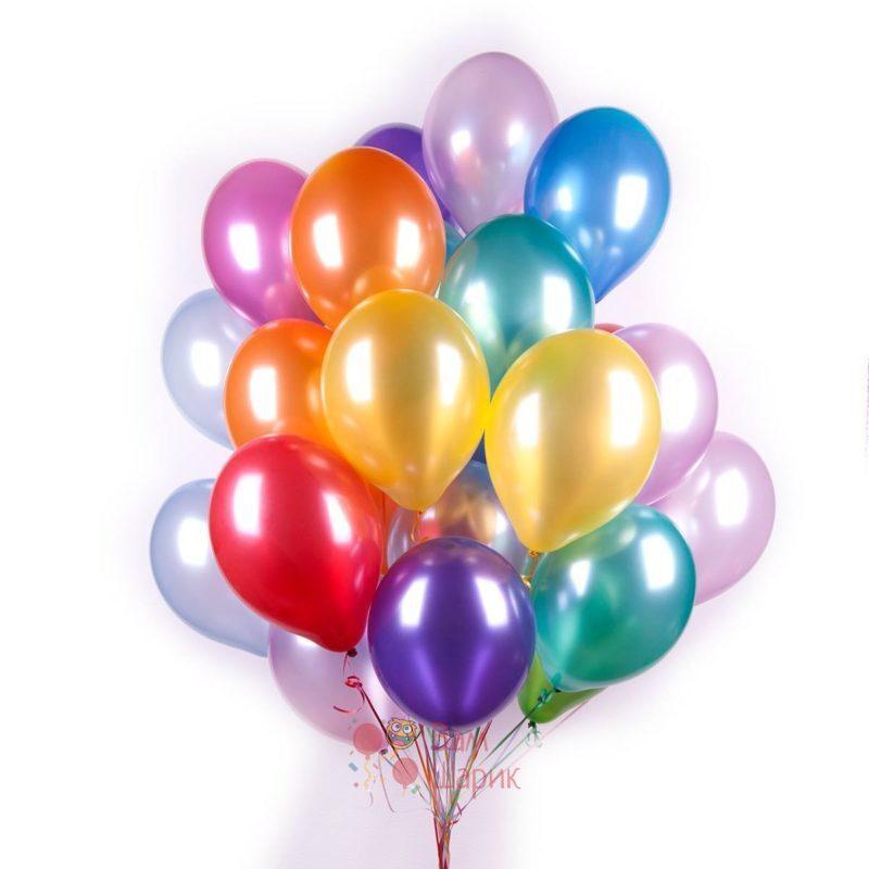 Воздушные разноцветные шары металлик