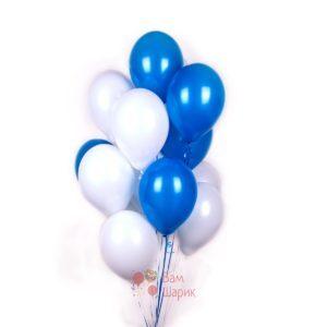 Облако бело-синих шаров
