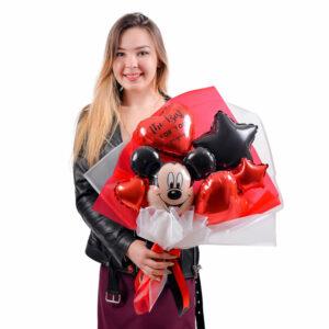 Букет из шариков с Микки Маусом