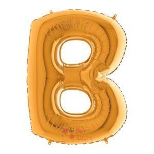 Фольгированная золотая буква B