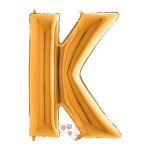 Фольгированная золотая буква K