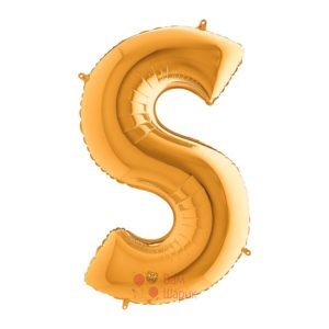 Фольгированная золотая буква S
