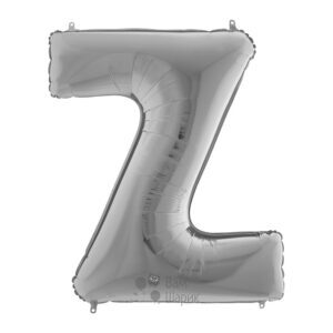 Фольгированная серебряная буква Z