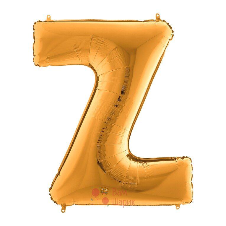 Фольгированная золотая буква Z