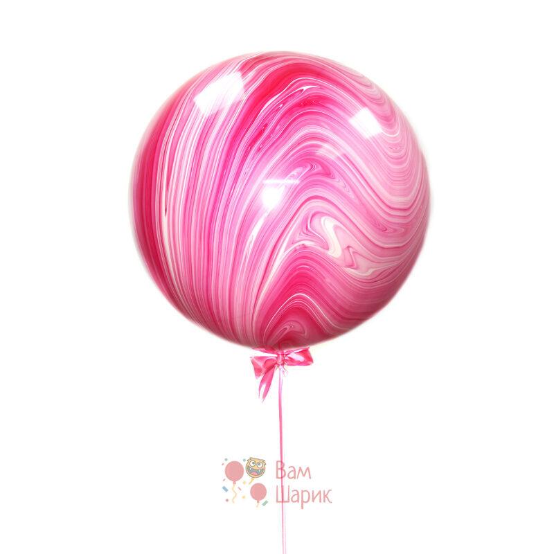 Большой розовый шар агат
