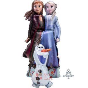 Ходячая фигура Эльза Анна и Олаф