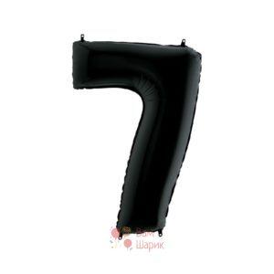 Шар цифра 7 черная