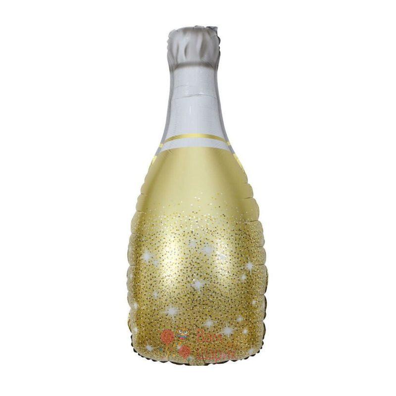 Фольгированная фигура золотая бутылка шампанского