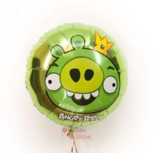 Фольгированный шарик Angry Birds свин