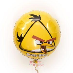 Фольгированный шарик Angry Birds желтая птичка
