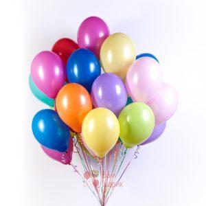 Облако разноцветных шаров 10 цветов
