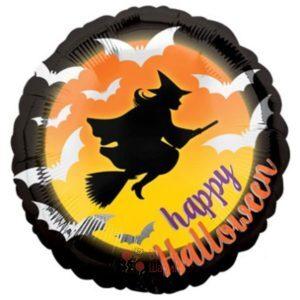 Фольгированный шар Happy Halloween с Ведьмой