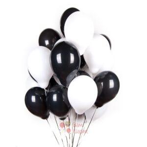Облако черных и белых шаров