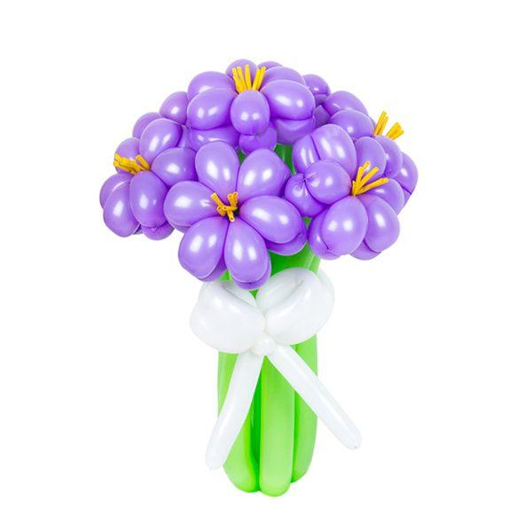 Цветы из шаров - незабудки - 1 шт.
