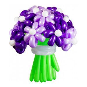 Цветы из шаров - фиолетовые ромашки - 1 шт.