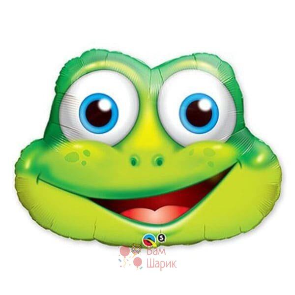 Фольгированная фигура голова лягушки