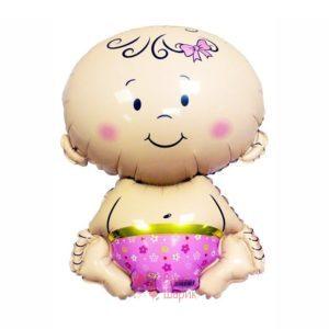Фольгированная фигура малыш девочка