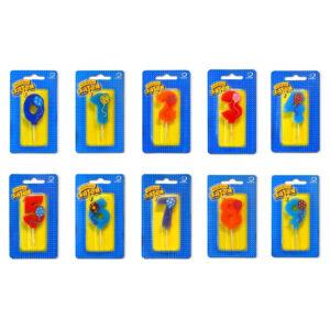 Свечи разноцветные 12 шт.