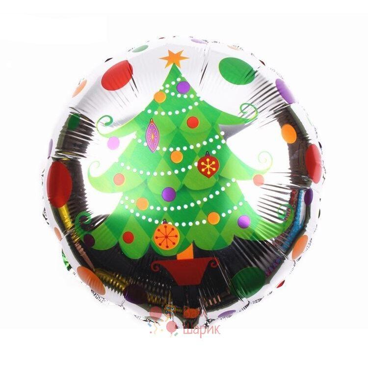 Фольгированный шарик с елкой