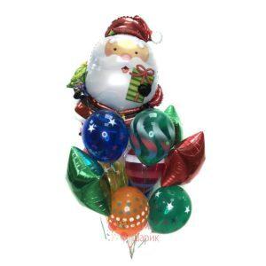 Композиция на Новый Год с Санта Клаусом и звездами