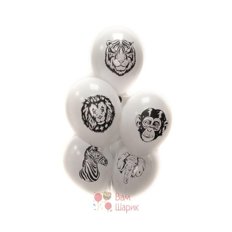 Белые шары с животными