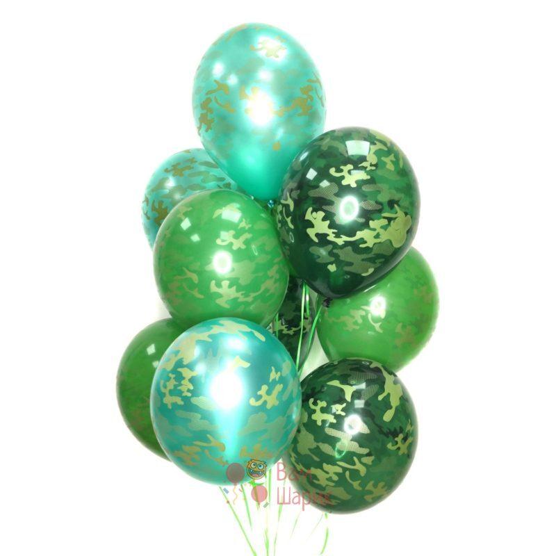 Камуфляжные шары на 23 февраля