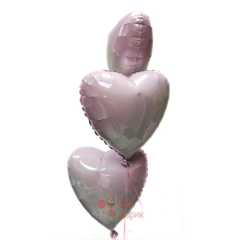 Сердца розовые градиент