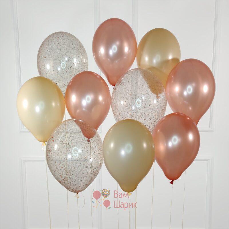 Гелиевые шары розовое золото
