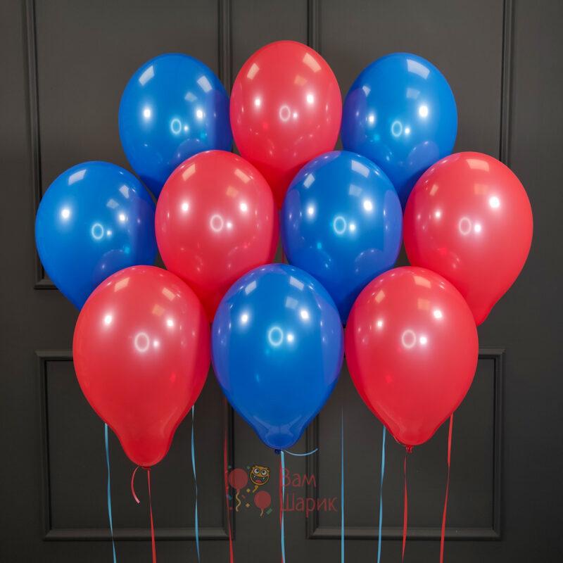 Воздушные красные и синие шары