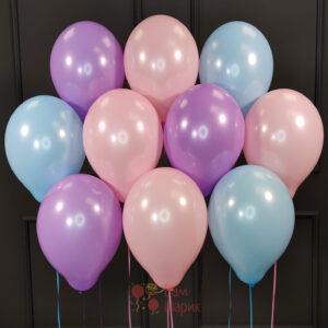 Воздушные шары ассорти нежные цвета
