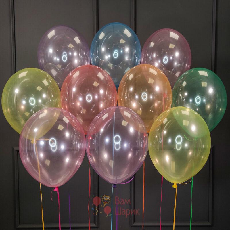 Воздушные шары нежное ассорти кристалл