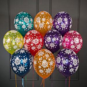 Разноцветные снежинки кристалл на новый год