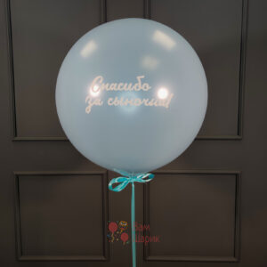 Большой голубой шарик с надписью