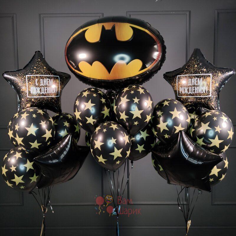 Композиция на День Рождения с эмблемой Бэтмена