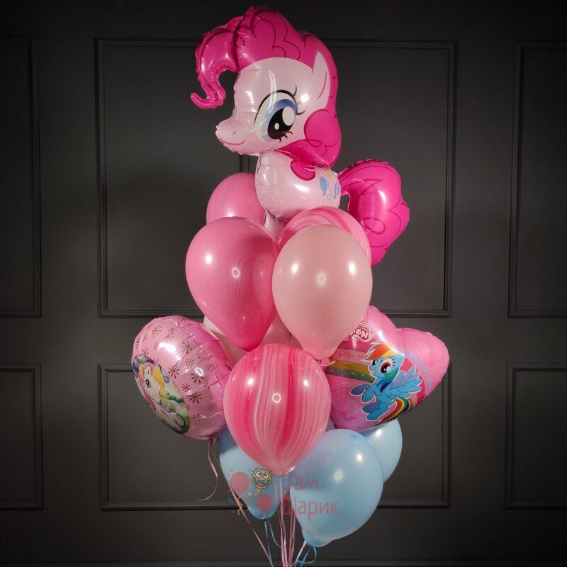 Композиция на день рождения ребенка из шаров My little pony c Пинки Пай