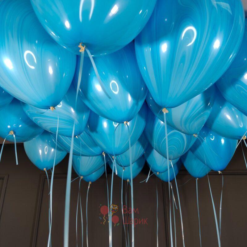 Облако шаров голубой агат