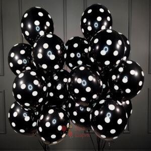 Облако черных шаров в точку