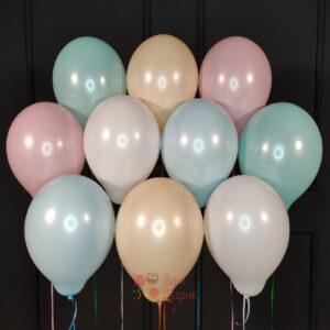 Воздушные шары разноцветные нежные пастель