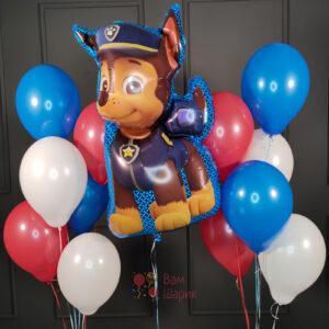 Композиция из шаров с фигурой Чейз Щенячий патруль