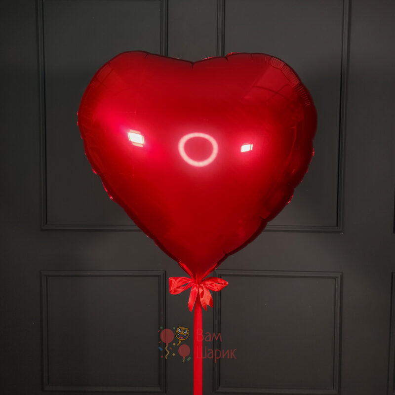 Фольгированное красное сердце 80 см