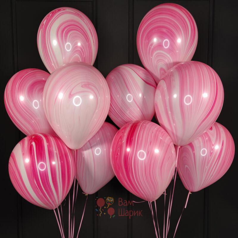 Воздушные шары розовый агат